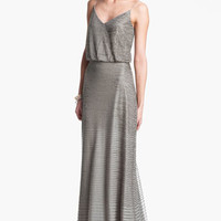 Adrianna Papell Embellished Blouson Mesh Gown | Nordstrom