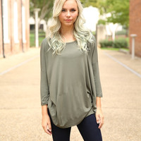 Piko - Top 3/4 sleeve - Army