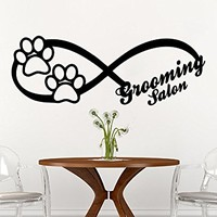 Infinity Sign Dog Wall Decal Animals Vinyl Sticker Decals Petshop Grooming Salon Home Decor Art Design Interior C597