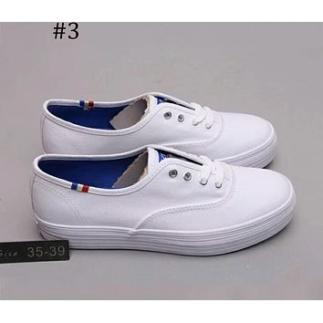 Keds 2018 spring solid color leather shoes casual wild white shoes F-A0-HXYDXPF #3