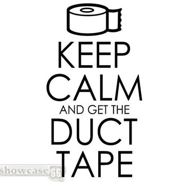 Keep Calm and Get the Duct Tape - Vinyl Wall Art - FREE Shipping - Fun Keep Calm Decal