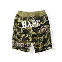 'BAPE'Cotton Camouflage Print Pants Hip-hop Shorts [10425656903]