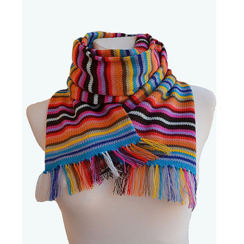 Knitted multicolor scarf