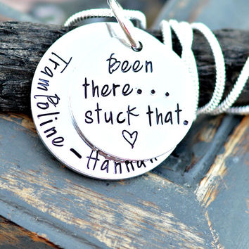Been There Stuck That - Gymnast Necklace- Gymnastics Gifts - Gymnastics Coach
