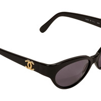 Chanel Cat Eye Logo Sunglasses