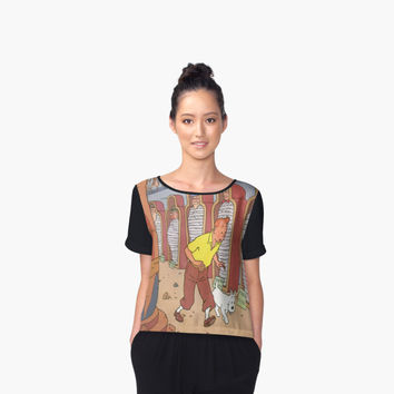 'tintin and the pharaoh' Women's Chiffon Top by PEACE6699