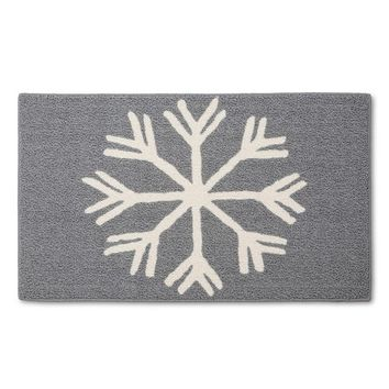 Threshold™ Snowflake Accent Rug - Gray (2'x3')