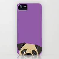 Pug iPhone & iPod Case by Anne Was Here
