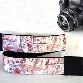 Paris Camera Strap. Eiffel Tower Camera Strap. Camera Accessories