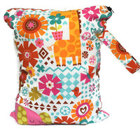 Wet Bag for Cloth Diapers, Large Wet Bag, Waterproof Bag with Handle, Cloth Diaper Bag, Baby Shower Gift