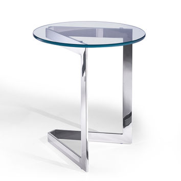 Jasmine Side Table round clear glass