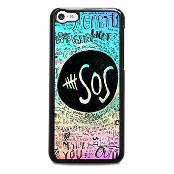 5 seconds of summer 3 5sos iphone 5c case cover  number 1