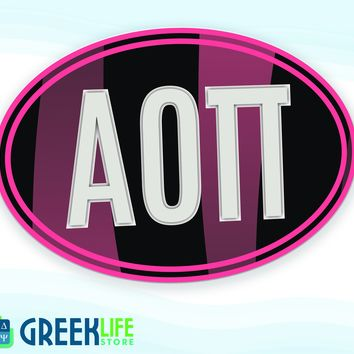 Alpha Omicron Pi Door Sign