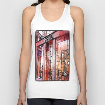 pencil store window  Unisex Tank Top by Jessica Ivy