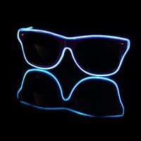 EL Wire Light Up Purple and Blue Sunglasses : LED Wire Glasses from RaveReady