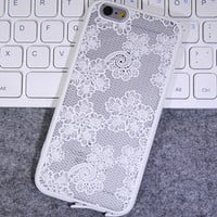 Fashion White Lace Mobile Phone Case For Iphone  6 6s 6plus 6s plus + Nice gift box!