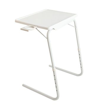Portable Table Folding Tablemate Adjustable Tray Foldable Desk With Cup Saucer
