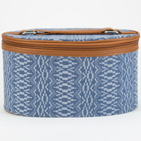 Jacquard Ethnic Print Cosmetic Case Blue One Size For Women 24822320001