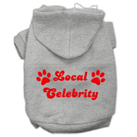 Local Celebrity Screen Print Pet Hoodies Grey Size XS (8)