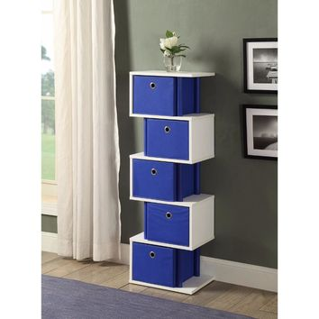 Zig Zag Drawer Storage - Ocean Blue -4DC Concepts