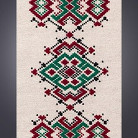 """Handwoven unique wool rug - """"Word of honour"""" - handmade piece of fibre art for your home decor by Rugs N' Bags - limited edition rug"""