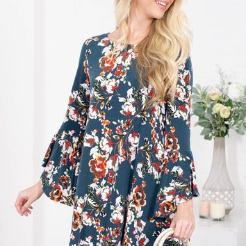 Brenda Green Floral Dress