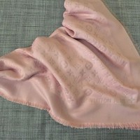 Louis Vuitton Monogram Signature Shawl Scarf Wrap Pink