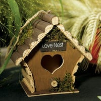 Miniature Wooden Birdhouses