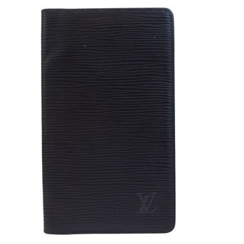 Auth LOUIS VUITTON Agenda Poche Notebook Cover Epi Leather Blue R20522 07BE217