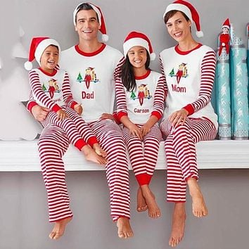 Family Matching Clothing Set Mom's Mother Daughter Father Christmas Printed T-shirt + Pants Suit Family Clothes Sets