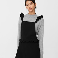 Ruffled pinafore dress