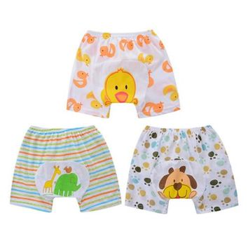 3pcs Lot Baby Shorts Baby PP Pants Cotton Underwear Baby Clothes Animal Style Summer Wear Thin Breathable Free Shipping QD31
