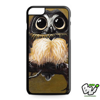 Brown White Young Owl iPhone 6 Plus Case | iPhone 6S Plus Case
