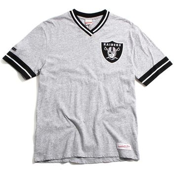Oakland Raiders Overtime Win Vintage T-Shirt Heather Grey