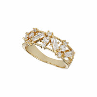 Gold Plated Wide Band Ring - Jewelry - Bags & Accessories