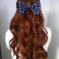 Purple Roses Bow