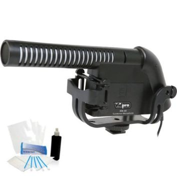 Condenser Shotgun Video Mic with Fuzzy Windbuster for GoPro Hero4 Hero3+ Hero3 Hero2 Hero - Walmart.com