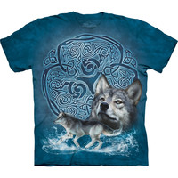 Wolf & Celtic Design T-Shirt