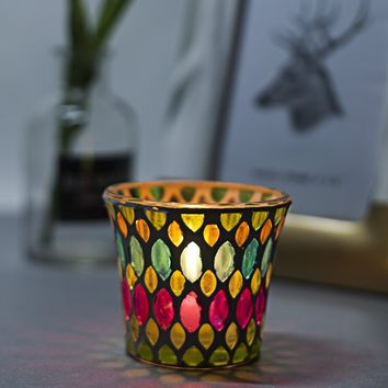Geometry Pattern Candle Cover