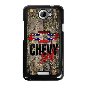 CAMO BROWNING REBEL CHEVY GIRL  HTC One X Case Cover