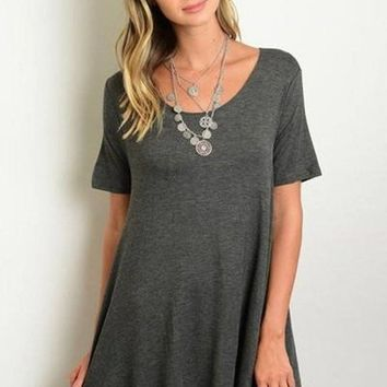 Weekend Vibes T-Shirt Dress - Grey FINAL SALE!