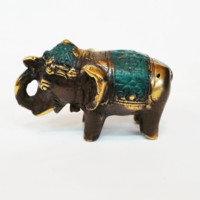 Small Brass Elephant Statue
