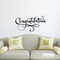 Wall Vinyl Decal Sticker Art Design Board with Inscription Congratulations Room Nice Picture Decor Hall Wall Chu909