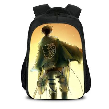 Cool Attack on Titan New Arrival  Backpack For Teens Back To School Backpack School Bag Pack Cartoon Printing Boys girls Bookbags H219 AT_90_11