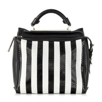 3.1 Phillip Lim Designer Handbags Black and White Small Ryder Satchel