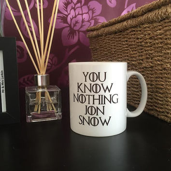 You Know Nothing John Snow Game Of Thrones Inspired Mug - Great For Birthday, Mothers Day, Gift