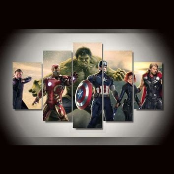 5 Panel Pcs Movie Avengers Home Decoration Panel Wall Art Canvas Print Picture