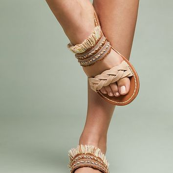 Soludos x Anthropologie Panarea Braided Slide Sandals