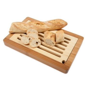 Core Bamboo™ 14-1/2-Inch x 9-1/3-Inch Slotted Bread Cutting Board
