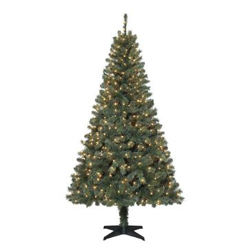 6.5 ft. Verde Spruce Artificial Christmas Tree with 400 Clear Lights-TG66M2V36C00 - The Home Depot